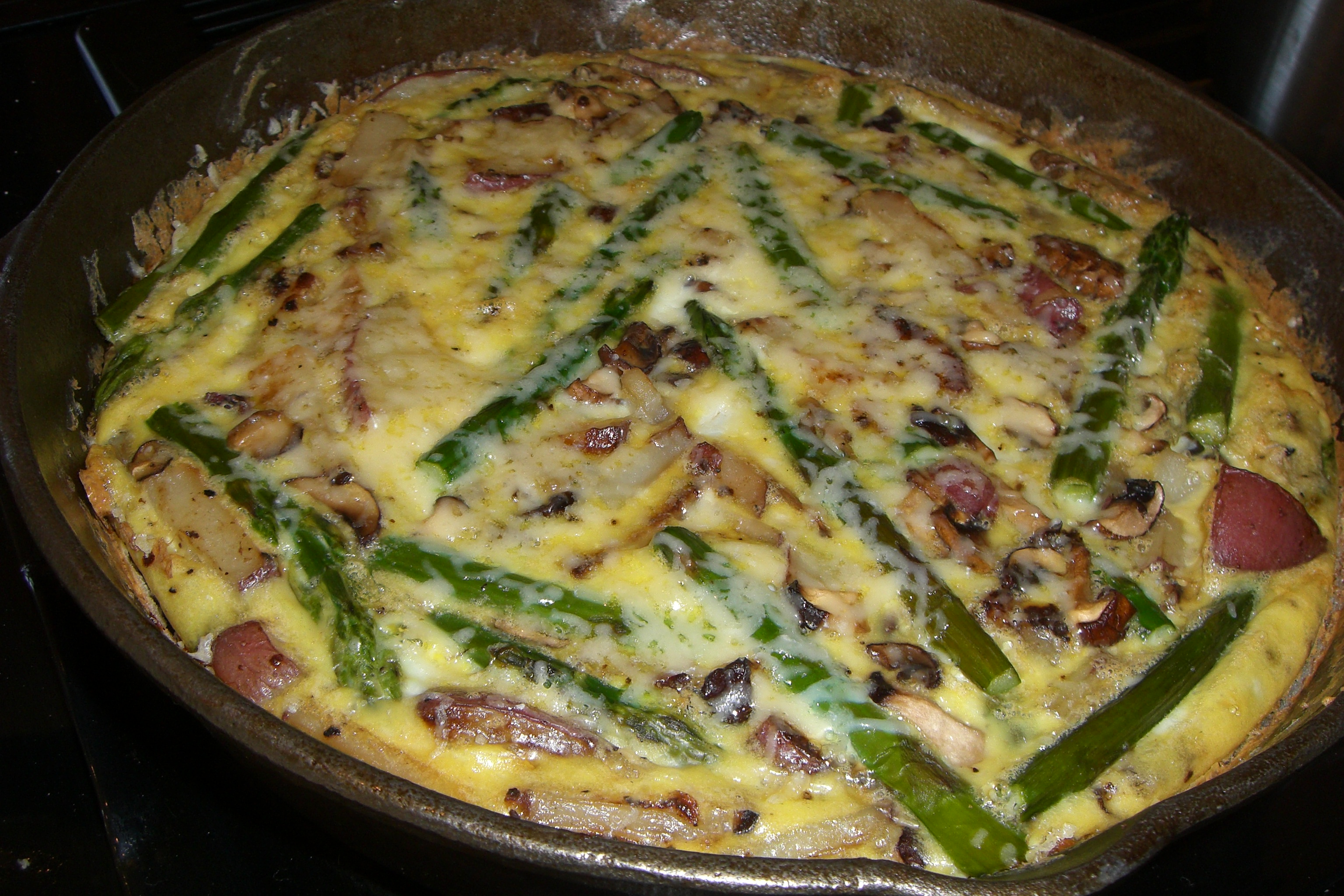 with asparagus and scallions asparagus and mushroom frittata roasted ...